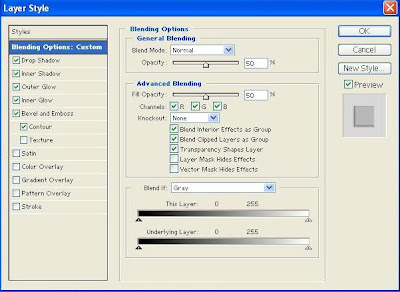 Photoshop 7.0 Layer Style Settings