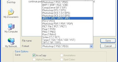 Photoshop 7.0 Save As Jpg