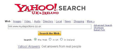 Using the link: command in Yahoo Search