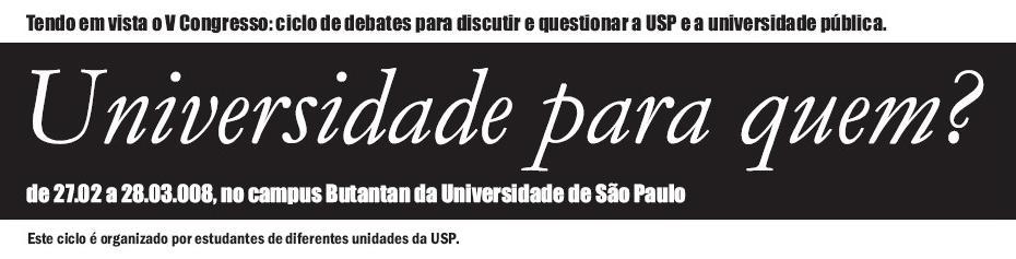Universidade para quem?