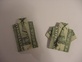 Money Origami Shirt with Tie and PANTS Suit Folded with Two Real ... | 210x280