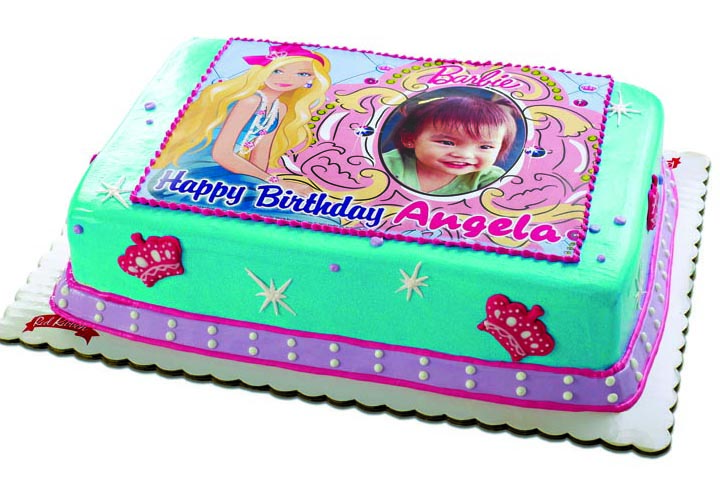 Red Ribbon Birthday Cakes Design