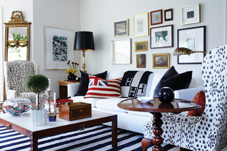 Black and white living room by Tommy Smythe
