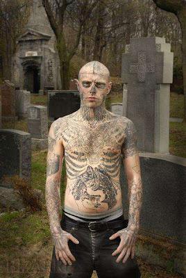 Loopy rocket rick zombie his amazing full body zombie for Full body tattoo porn