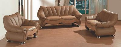روعة الديكور وتناسق الالوان Contemporary-leather-sofa-set-light-medium-brown