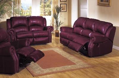 روعة الديكور وتناسق الالوان Burgundy-leatherette-sofa-set
