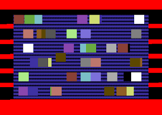 42 sprites being multiplexed