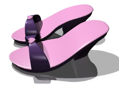 Free Architecture 3D Models On 3DS Max: Women's Shoes 1