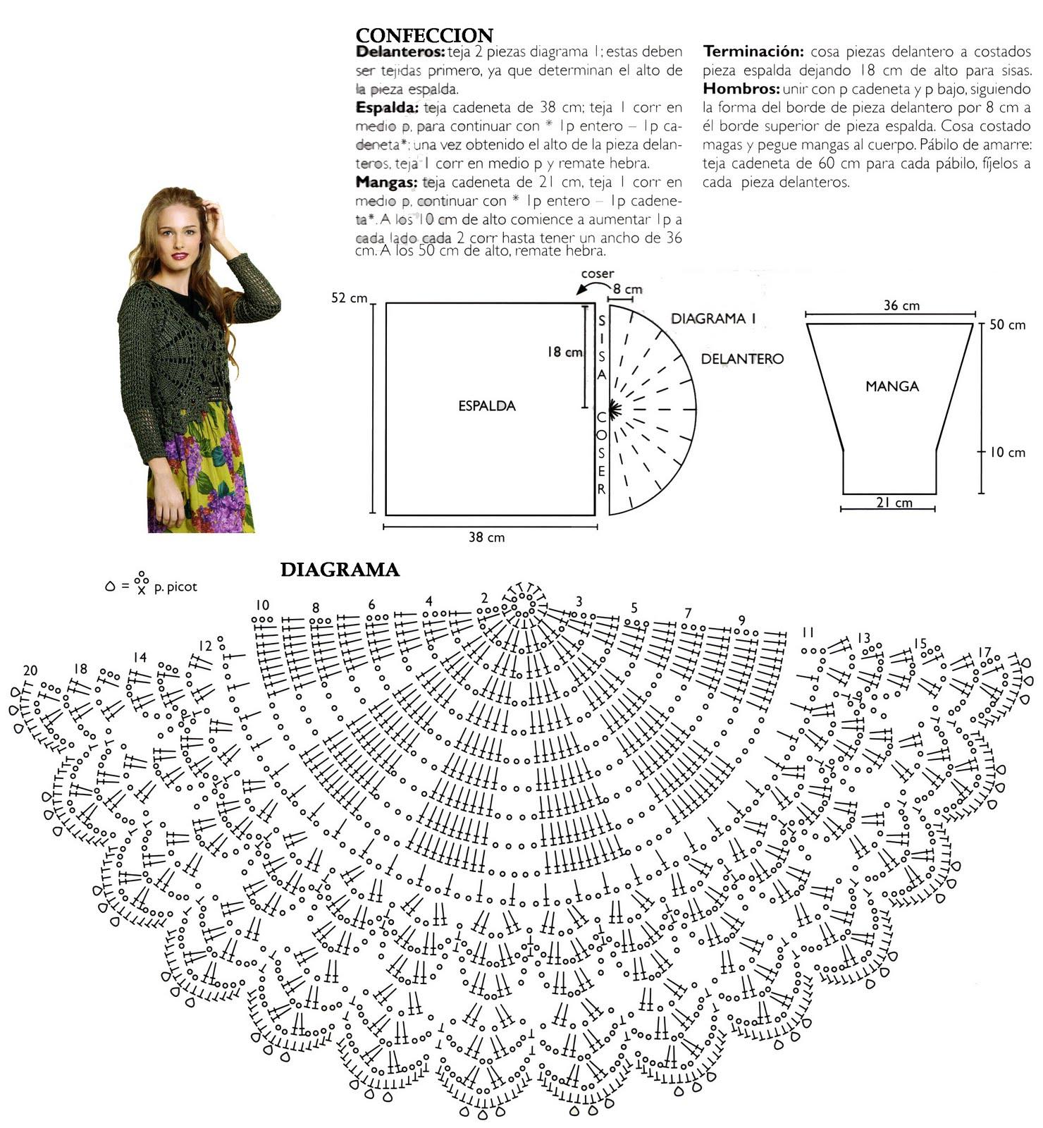 Diagramas De Chalecos A Crochet