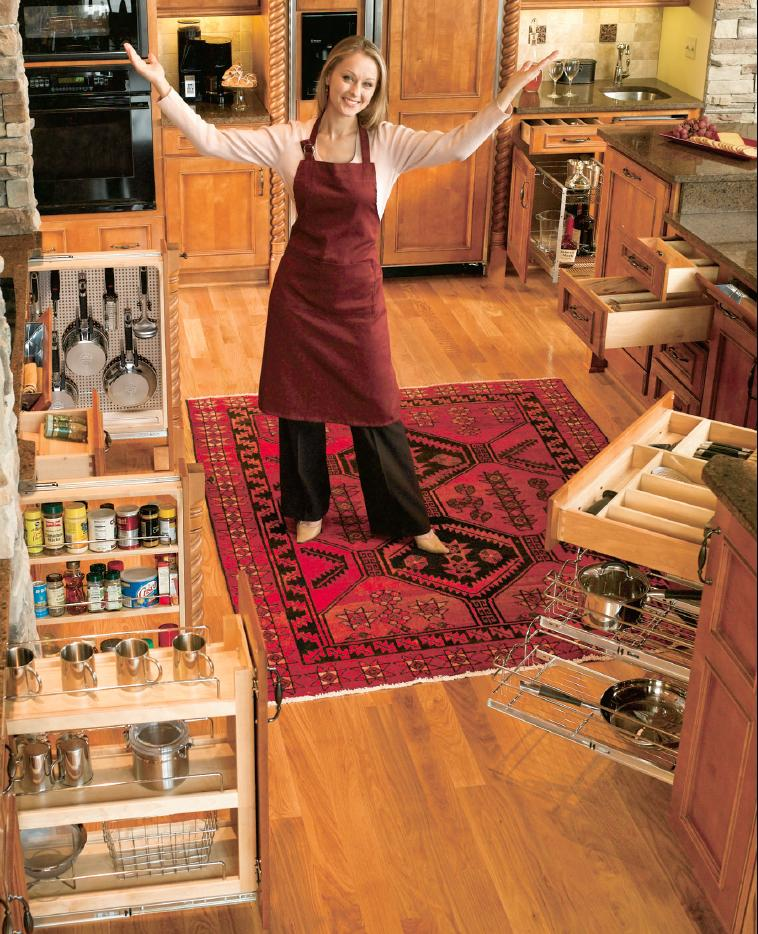 Kitchen Cabinet Accessories Pull Out: Enzy Living: Kitchen Cabinet Pull-Outs & Accessories