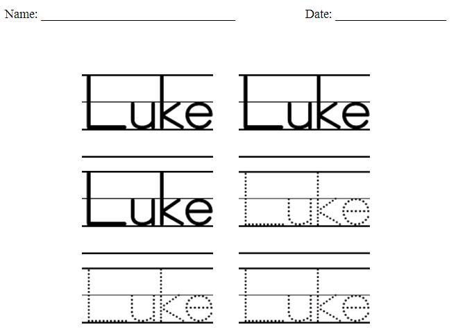 Number Names Worksheets : name tracing worksheet ~ Free Printable ...