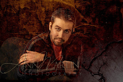 Fine art portrait blend of singer songwriter Russell Huie College Station Texas musician