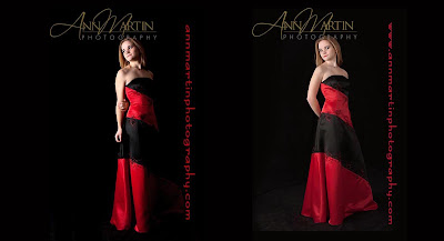 prom dress picture poses for high school senior in studio