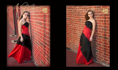 outdoor prom dress pose pictures of PESH marching band senior Judith Todd