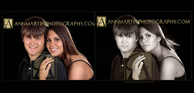 Plano High School senior pictures or portrait poses of senior boy with girlfriend in studio Dallas Texas senior pictures portraits photographers photography