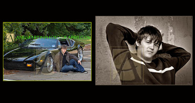 Plano High School senior portrait of boy with his Pantera sports car and casual outdoor guy pose