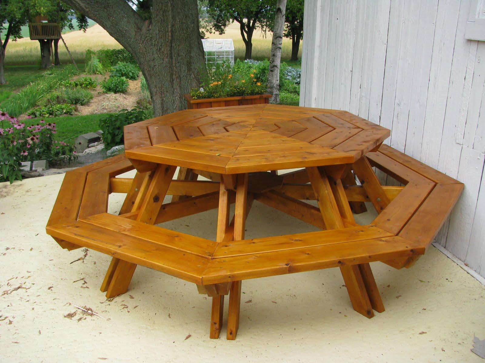 Plan Pour Table De Pique-nique En Bois | Table Banc Jardin Table ...