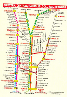 Harbour Line Map Western Central Harbour railway map   Mumbai Guide