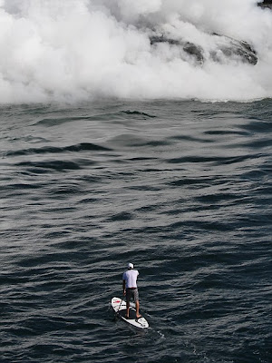 The surfer who kept his cool in the face of a volcano