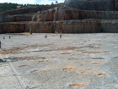Walking around the quarry that has the dinosaur footprints, about 10km south of Fátima