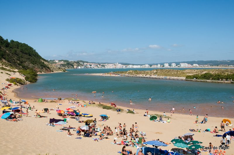 Salir do Porto and the famous dunes overlooking the sea and Sao Martinho do Porto