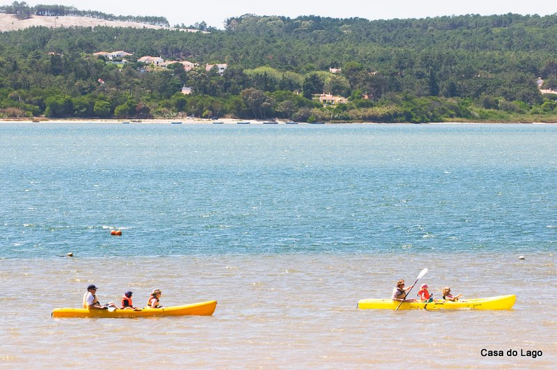 Canoeing on Obidos Lagoon