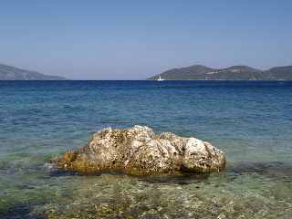 In Kefalonia ... looking over Ithaka.... (On the right)