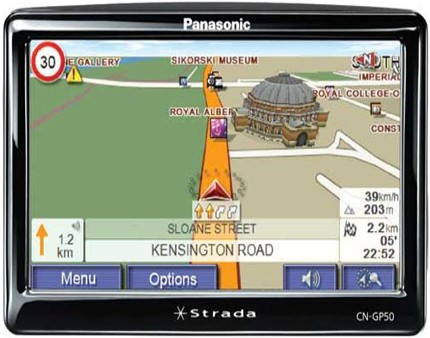 Panasonic Strada CN-GP50N GPS Navigation Device - Review