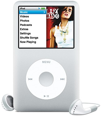 Apple iPod classic (Sixth Generation, 80GB) - With earphones