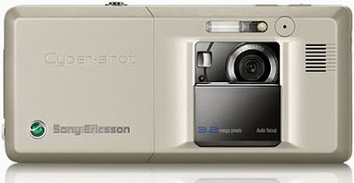 Sony Ericsson K810i Mobile Phone - Back (Golden Ivory)