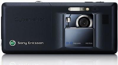 Sony Ericsson K810i Mobile Phone - Back (Noble Blue)