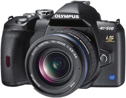 Olympus E-510 Digital SLR Camera - Review (Front)