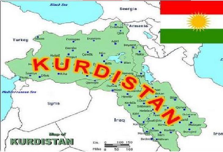 Турецкий курдистан на карте