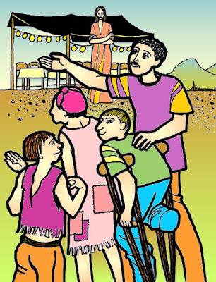 Resultado de imagen para imagenes Lc 14,1.7-14 para niños