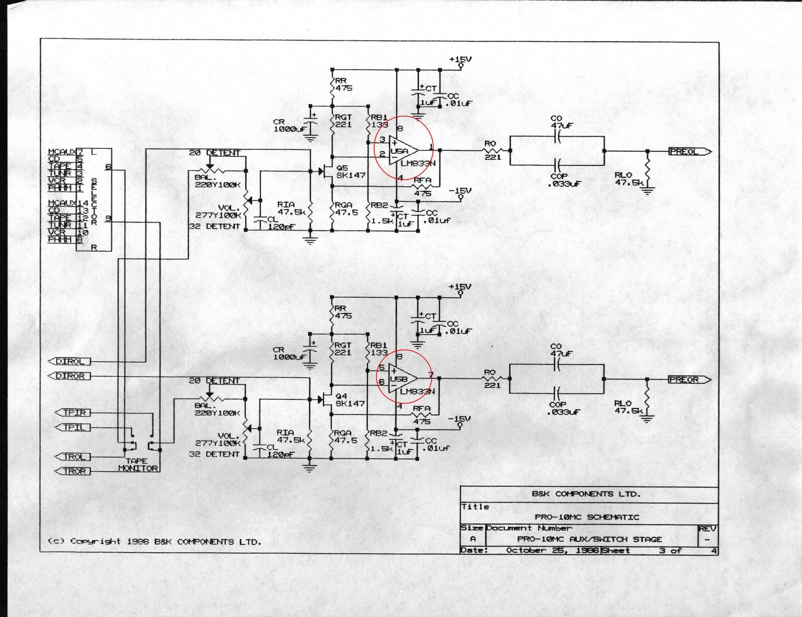 hight resolution of b k pro10 preamp b k ex442 poweramp arcam delta 60 schematics