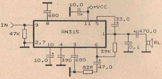 Power Amplifier Circuit with IC AN315