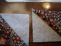 Quilters Triangles, How To Make with Seven, Eighth Inch Squares