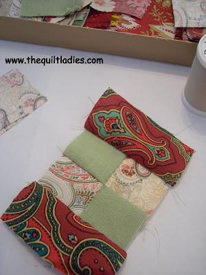 hand piece a quilt