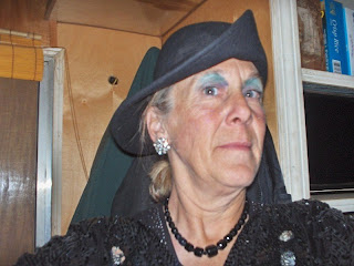Gaelyn dressed for Halloween Cave Junction Oregon
