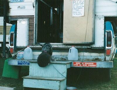 Carson at Fleamarket Carson Washington Summer 1997
