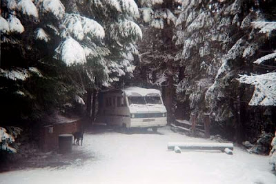 RV in snow at Oregon Caves National Monument Oregon