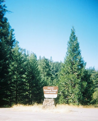 Cave Creek campground sign Siskyou National Forest Oregon