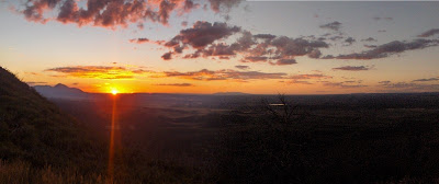 Sunset over Montezuma Valley from Mesa Verde National Park Colorado