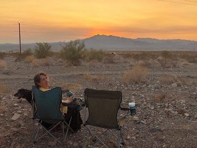 Sunset from camp near Lake Havasu City Arizona