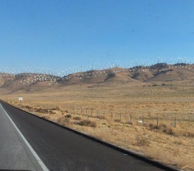 Wind turbines Tehachapi Mountains California