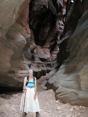 Gaelyn in Buckskin Gulch Slot Canyon Grand Staircase Escalante National Monument Arizona