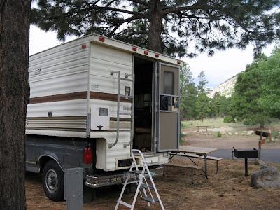 Truck camper Flagstaff KOA Arizona