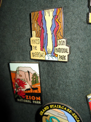 Hat pins Zion National Park Utah