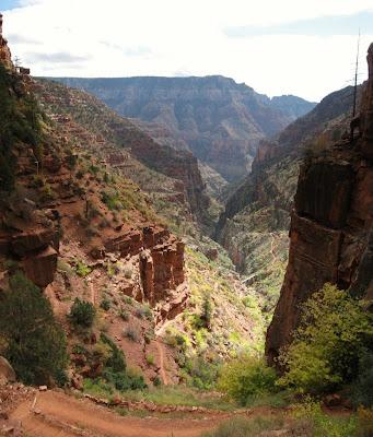 Redwall bridge below North Kaibab trail Grand Canyon National Park Arizona