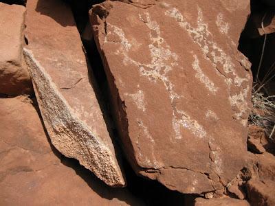 Calcite crystals North Kaibab trail Grand Canyon National Park Arizona